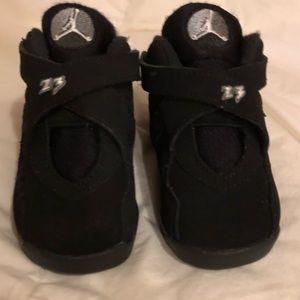 Nike Air Jordan 8 Retro Black white Chrome size 5C